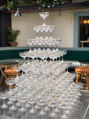 champagne tower hire